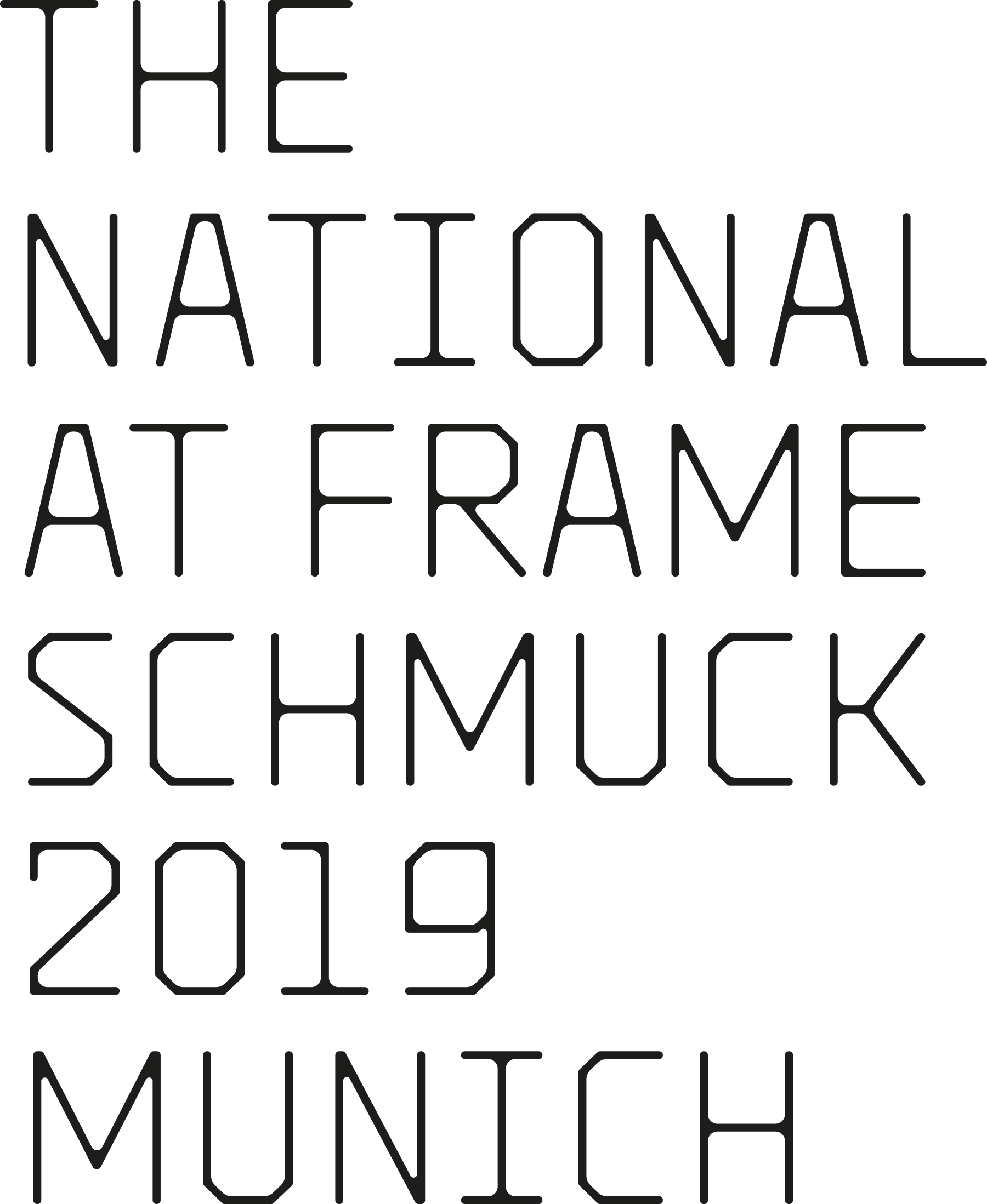 The National at Frame Schmuck 2019 Munich